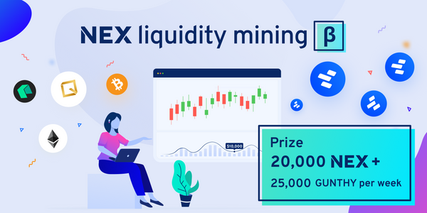 Liquidity mining: 100,000 GUNTHY added to the prize pool!